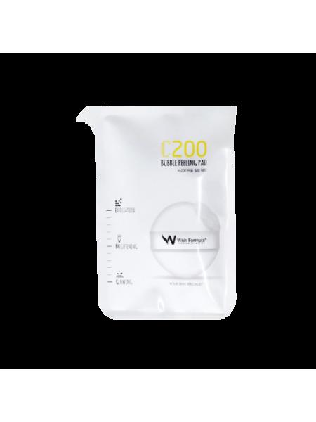 Спонж-пилинг для лица с витамином С Wish Formula C200 Bubble Peeling Pad