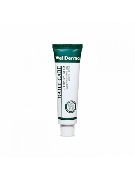 Восстанавливающий крем для чувствительной кожи с центеллой WellDerma Daily Care Recovery Cream