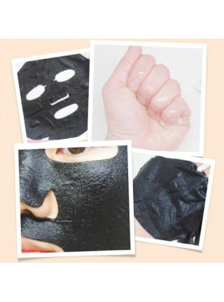 Ультратонкая ампульная маска-мишка для сужения пор THE OOZOO Oozoo Bear Black Space Pore Caring Mask