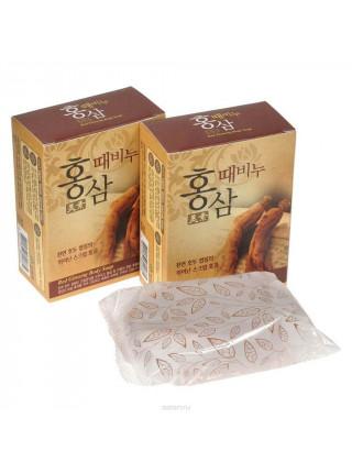 Косметическое мыло-скраб с красным женьшенем Mukunghwa Miso Red Ginseng Scrub Soap