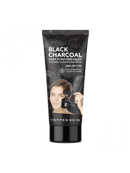 Маска-пленка с углем для глубокой очистки от черных точек Black Charcoal Deep Purifying Mask - Peel-off Type