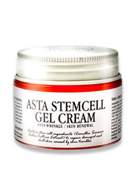 Омолаживающий гель-крем для лица со стволовыми клетками растений Graymelin Asta Stemcell Anti-Wrinkle Gel Cream