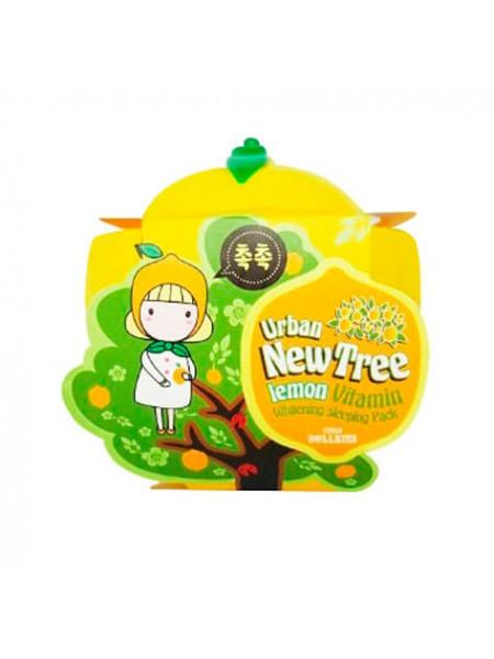 Ночная осветляющая маска с экстрактом лимона Baviphat Urban Dollkiss New Tree Lemon Vitamin Whitening Sleeping Pack