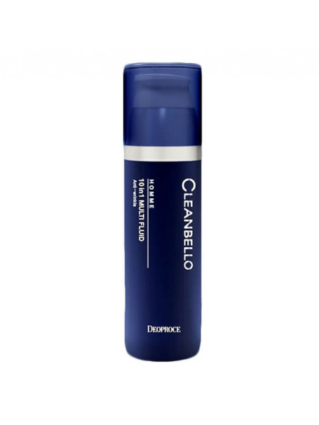 Увлажняющий флюид с коллагеном для мужчин Deoproce Cleanbello Homme 10 in 1 Multi Fluid Anti-wrinkle