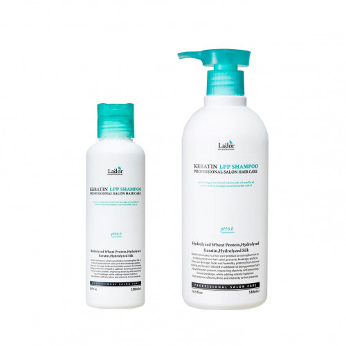 Безсульфатный протеиновый шампунь Lador Keratin LPP Shampoo - 530 мл