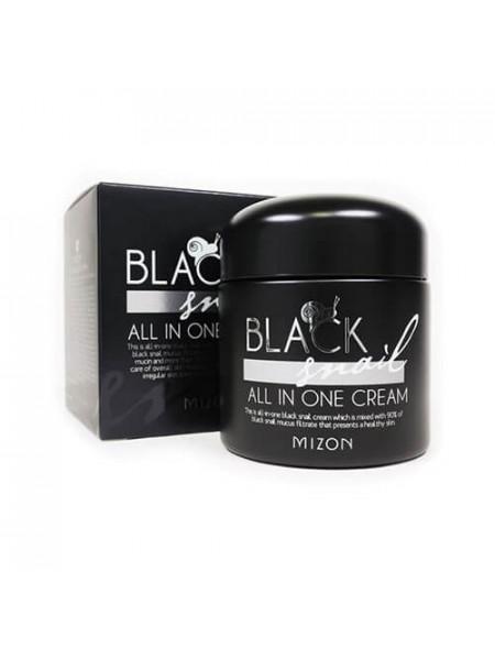 Крем для лица c экстрактом черной улитки Mizon Black Snail All In One Cream 35 ml