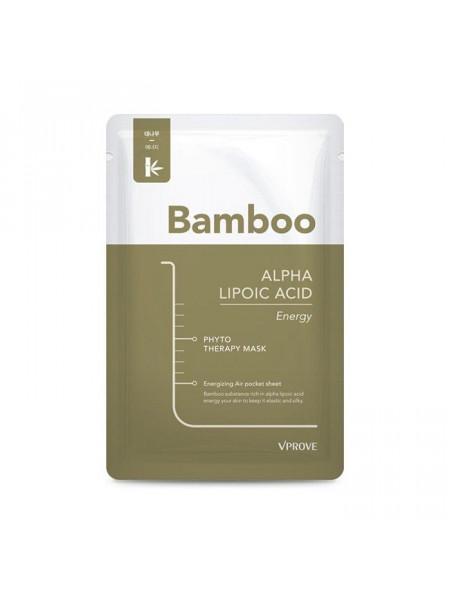Витаминная тканевая маска с бамбуком Phyto Therapy Mask Sheet Alpha Lipoic Acid Energy