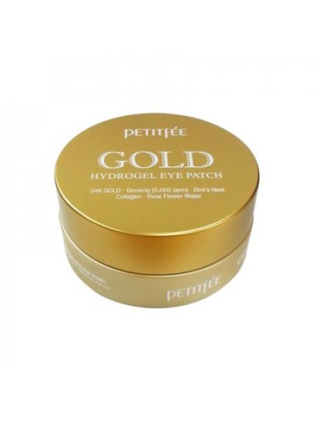 Гидро-гелевые патчи для век с женьшенем и коллагеном Petitfee Gold Hydrogel Eye Patch