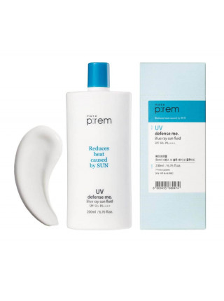 Солнцезащитное молочко для лица и тела Make P:rem UV Defense Me Blue Ray Sun Fluid SPF 50+PA++++