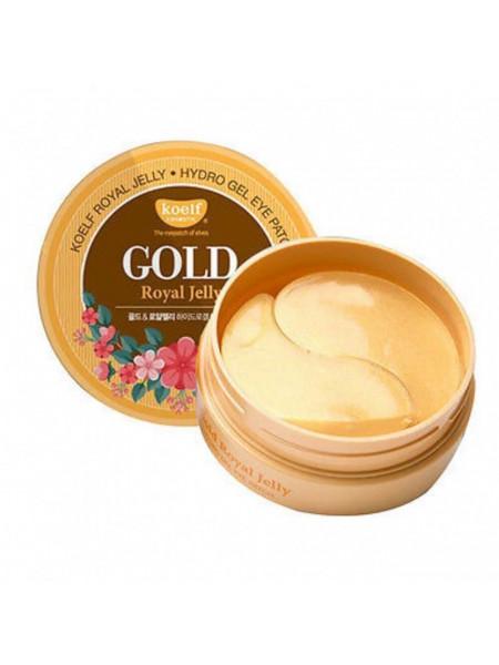 Гидро-гелевые патчи с золотом и маточным молочком Petitfee Koelf Gold & Royal Jelly Eye Patch