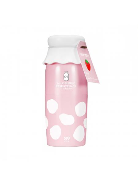 Клубничная кислородная эссенция для жирной кожи G9Skin Milk Bubble Essence Pack Strawberry