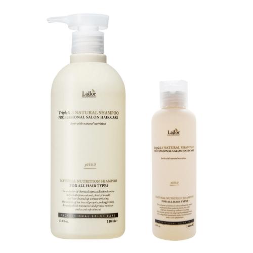 Безсульфатный органический шампунь с эфирными маслами Lador Triplex Natural Shampoo - 150 мл