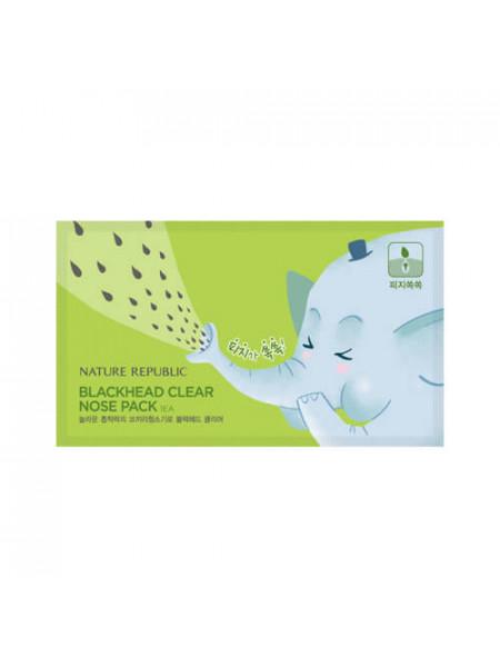 Очищающий пластырь для носа от черных точек Nature Republic Blackhead Clear Nose Pack
