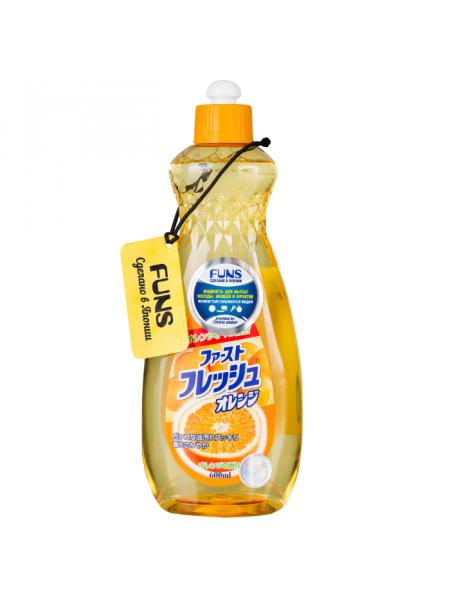 Жидкость для мытья посуды, овощей и фруктов с маслом апельсина