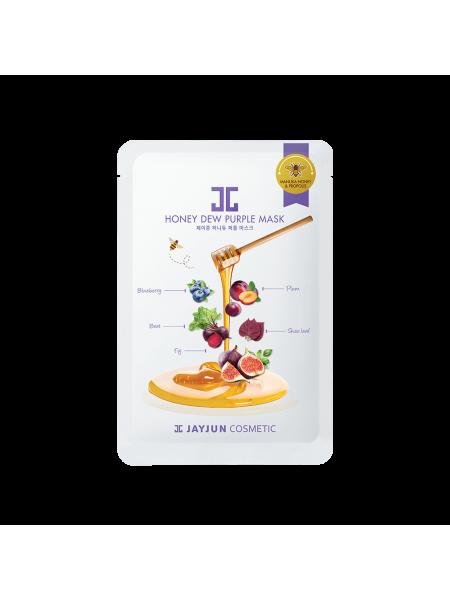 Целлюлозная маска для упругости кожи Jayjun Cosmetic Honey Dew Purple Mask