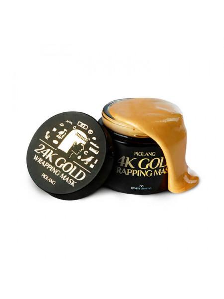 Омолаживающая маска для лица с 24к золотом Esthetic House Piolang 24K Gold Wrapping Mask