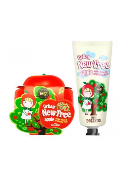 Осветляющая маска для лица Baviphat Urban Dollkiss New Tree Apple Instant Tone-Up Brightening Pack