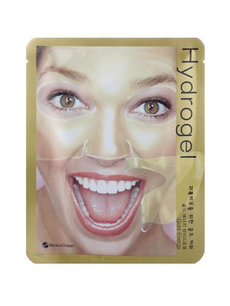 Гидрогелевая маска с золотом для эластичности кожи Beauugreen Hydrogel Mask (Gold Energy)