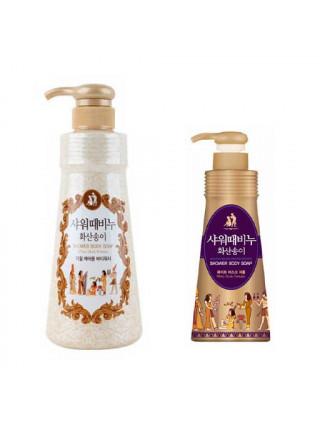 Бессульфатный гель-эксфолиант для душа с вулканической лавой Mukunghwa White Musk Perfume Shower Body Soap — 500 мл