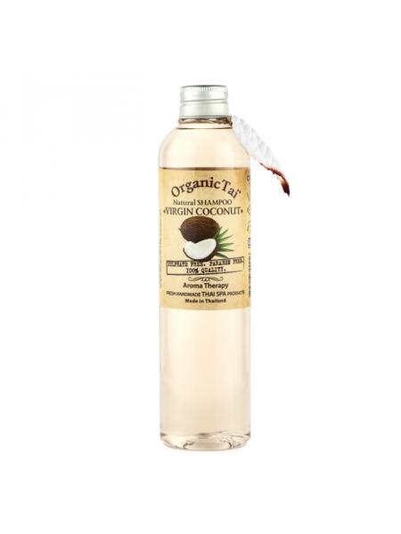 Безсульфатный шампунь для волос с кокосовым маслом Natural Shampoo Virgin Coconut