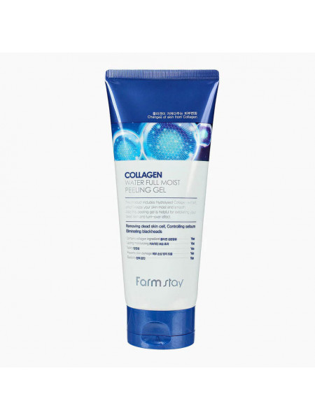 Коллагеновый пилинг-скатка Farmstay Collagen Water Full Moist Peeling Gel