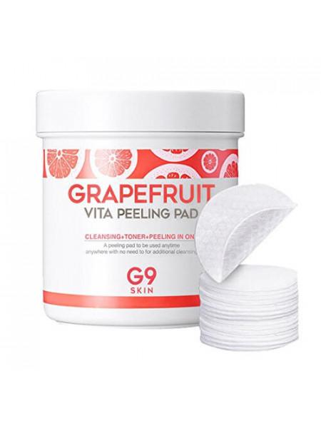 Пилинг-пэды для лица с грейпфрутом G9SKIN Grapefruit Vita Peeling Pad