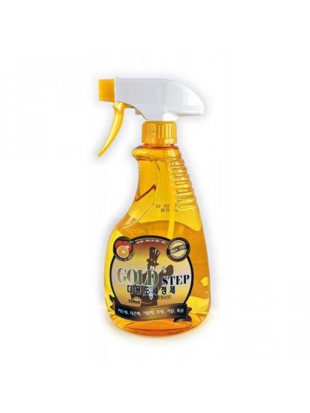 Универсальное жидкое чистящее средство для дома с частицами золота