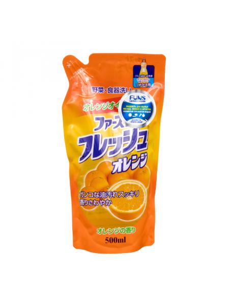 Жидкость для мытья посуды, овощей и фруктов с маслом апельсина (запасной блок)