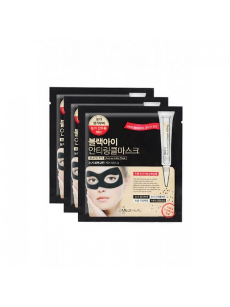 Маска для области вокруг глаз с пептидами шёлка Mediheal Black Eye Anti-Wrinkle Mask