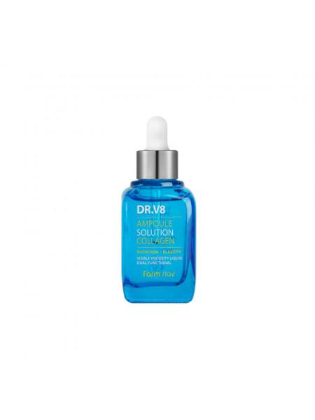 Ампульная сыворотка с коллагеном для упругости кожи Farmstay DR-V8 Ampoule Solution Collagen