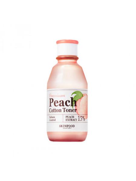 Матирующий персиковый тоник для лица Skinfood Premium Peach Cotton Toner