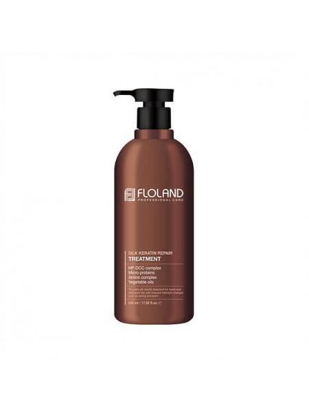 Восстанавливающая маска-бальзам для волос с кератином Floland Premium Silk Keratin Treatment
