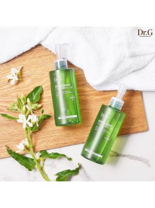 Гидрофильное масло против черных точек для чувствительной кожи Dr.G Green Deep Cleansing Oil