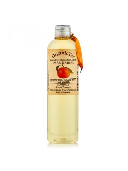 Безсульфатный шампунь для волос с мандариновым маслом Natural Fortifying Shampoo Mandarin