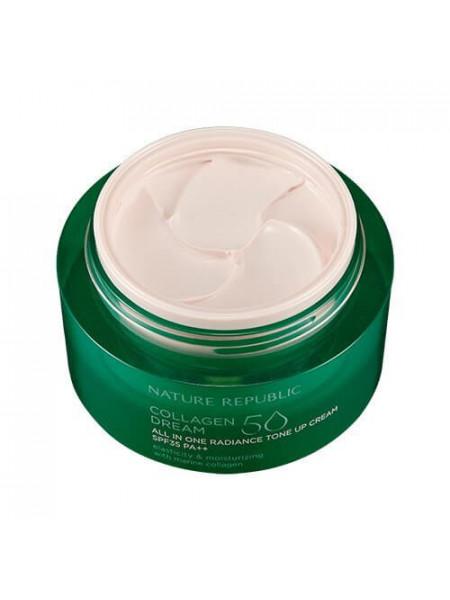 Коллагеновый крем для лица с тонирующим эффектом Nature Republic Collagen Dream 50 All In One Radiance Tone Up Cream