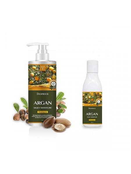 Увлажняющий шампунь с аргановым маслом Deoproce Argan Silky Moisture Shampoo
