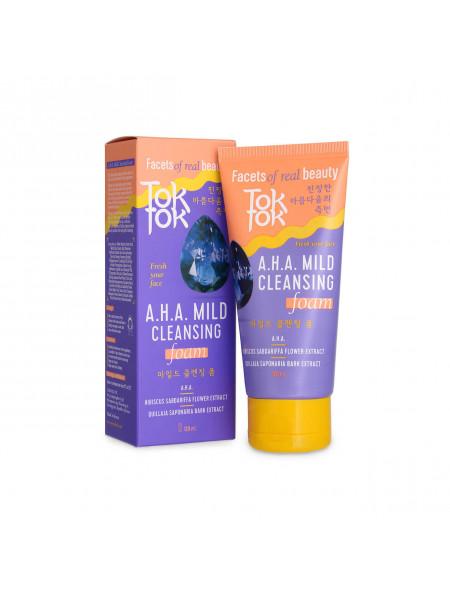 Мягкая очищающая пенка для умывания с AHA-кислотами TokTok A.H.A.Mild Cleansing Foam