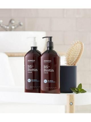 Бессульфатный укрепляющий шампунь с биотином AROMATICA B5+Biotin Fortifying Shampoo