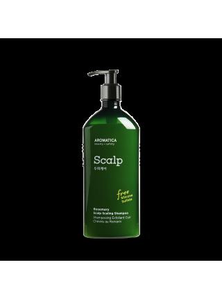 Бессульфатный укрепляющий шампунь с розмарином AROMATICA Rosemary Scalp Scaling Shampoo 250 мл