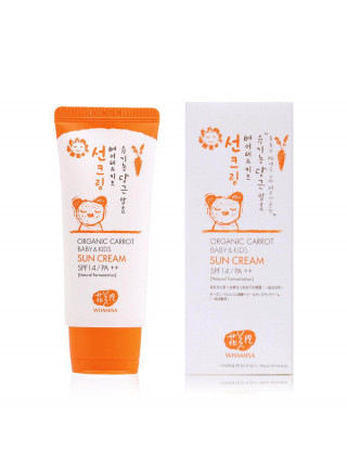 Детский органический солнцезащитный крем Whamisa Organic Carrot Baby&Kids Sun Cream SPF 14 PA++