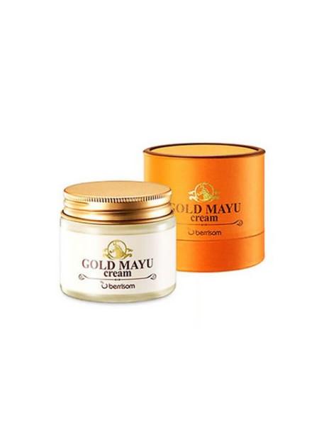Лечебный крем для лица с лошадиным молоком и золотом Berrisom Gold Mayu Cream