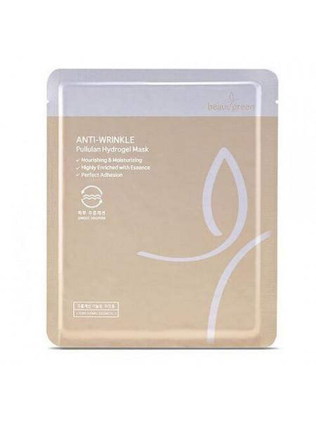 Омолаживающая гидрогелевая маска для упругости кожи Beauugreen Anti-Wrinkle Pullulan Hydrogel Mask
