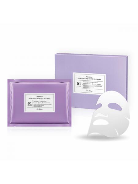 Увлажняющая шёлковая премиум-маска со скваланом Dr. Althea Premium Squalane Silk Mask