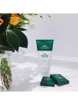 Пенка для чувствительной кожи с центеллой VT Cosmetics Cica Mild Foam Cleanser