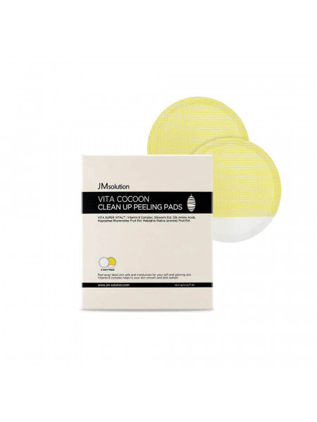 Отшелушивающий пилинг-пэд с экстрактом кокона шелкопряда JMsolution Vita Cocoon Clean Up Peeling Pads