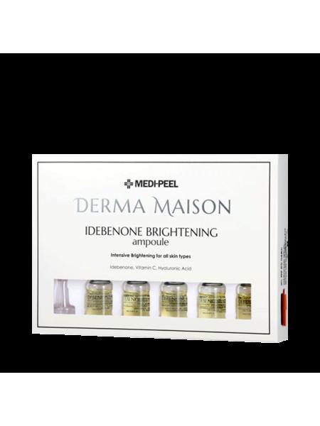 Концентрированные ампулы с идебеноном MEDI-PEEL Derma Maison Idebenon Brightening Ampoule