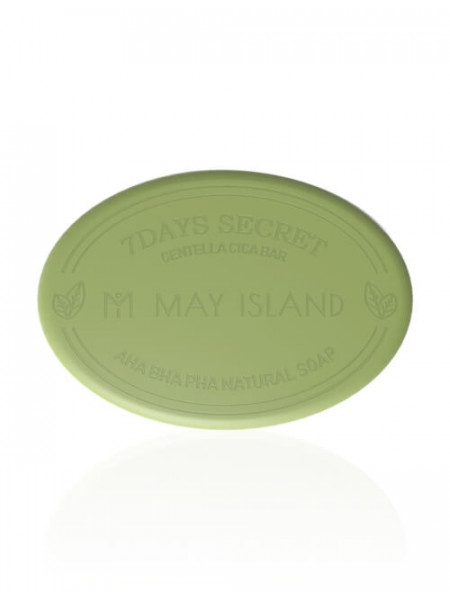 Мыло для проблемной кожи May Island 7 Days Secret Centella Cica Pore Cleansing Bar AHA/BHA/PHA