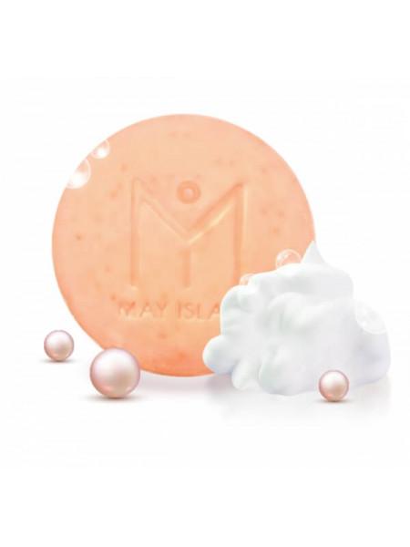 Осветляющее мыло для умывания с жемчугом May Island G.G.G Pearl Beauty Bar