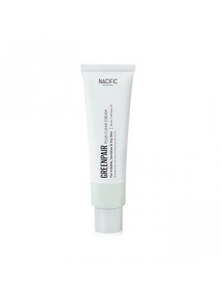 Успокаивающий крем для проблемной и чувствительной кожи NACIFIC Greenpair Plus Clear Cream