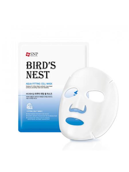 Омолаживающая целлюлозная маска с ласточкиным гнездом SNP Birds Nest Aqua Fitting Cell Mask